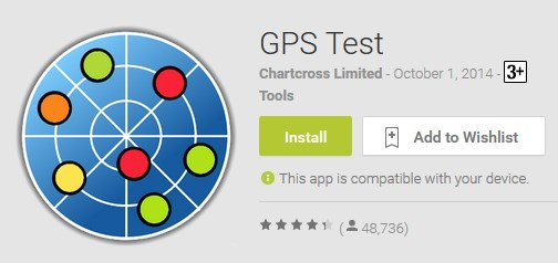 How to update GPS position on Samsung Galaxy S6