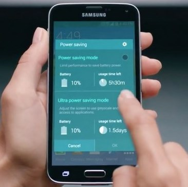 how to save battery power on galaxy s6