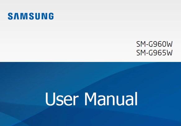 Samsung Galaxy S9 Manual Canada