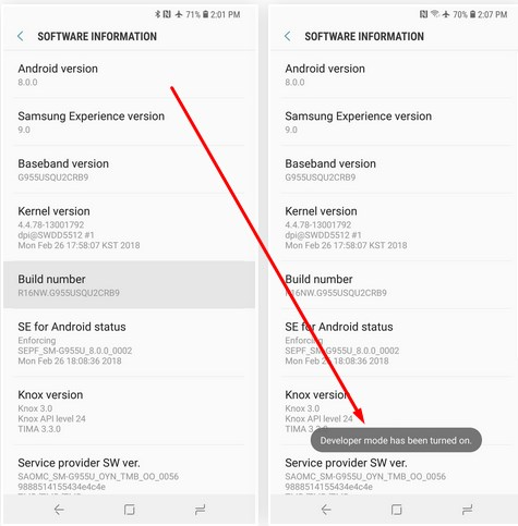 How To Enable Developer Mode On Samsung Galaxy S9