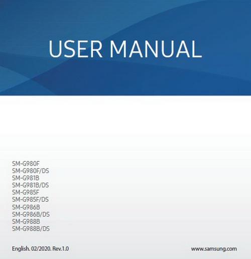 Samsung Galaxy S20 Plus User Manual