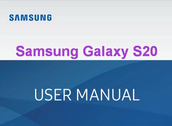 Samsung Galaxy S20 User Manual