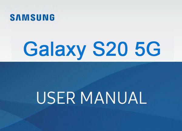 samsung galaxy s20 5g manual